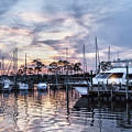 Happy Hour Sunset At Bluewater Bay Marina, Florida by Kay Brewer