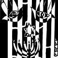 Happy Judaica Maze Art by Yonatan Frimer Maze Artist