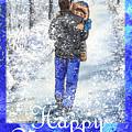 Happy New Year From Daddy And Son by Irina Sztukowski