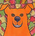 Happy Orange Doggy Dog by Catherine G McElroy