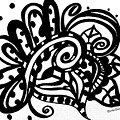 Happy Swirl Doodle by Rachel Maynard