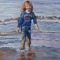 Happy With Sea And Sand by Elena Sokolova