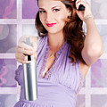 Happy Young Housewife Cleaning With Spray Bottle by Jorgo Photography - Wall Art Gallery