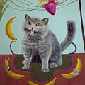 Happycat Can Has Banana Phone by Julia Collard