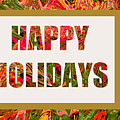 Happy Holidays Card by Regina Geoghan