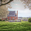 Harbaugh Church In The Spring by Pat Goodwin