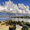 Harbor Clouds At Boynton Beach Inlet by Debra and Dave Vanderlaan