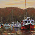 Harbor Lights - Annapolis Morning by Mary Susan Vaughn
