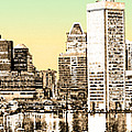 Harbor Lights From Federal Hill - Drawing Fx by Brian Wallace