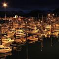 Harbor Night by Rick  Monyahan