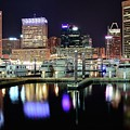 Harbor Nights In Baltimore by Frozen in Time Fine Art Photography