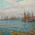 Harbor Of A Thousand Masts by Childe Hassam