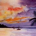 Harbor Sunset Kauai Hawaii by Brenda Owen