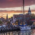 Harbor Sunset by Richard Nowitz