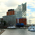 Harbor View With Elbphilharmonie by Christiane Schulze Art And Photography