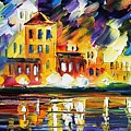 Harbor's Flames by Leonid Afremov