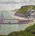 Harbour At Port En Bessin At High Tide by Georges Pierre Seurat