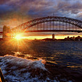 Harbour Bridge Sunset By Kaye Menner by Kaye Menner