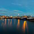 Harbour Lights At Dawn by Bill Buchan
