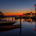Harbour Town Lighthouse Sunset by Cliff Middlebrook