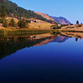 Hardy Mountain Lake Grand Forks Bc by Barbara St Jean