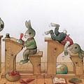 Hare School 02 by Kestutis Kasparavicius