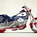 Harley Davidson Made In The Usa Shower Curtain For Sale By Stephanie Hamilton