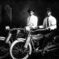 William Harley And Arthur Davidson, 1914 -- The Founders Of Harley Davidson Motorcycles by Doc Braham