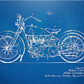 Harley-davidson Motorcycle 1928 Patent Artwork by Nikki Marie Smith