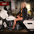 Harley Davidson Motorcycle Babe by Jt PhotoDesign