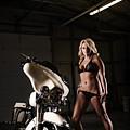 Harley Davidson Motorcycle Bikini  by Jt PhotoDesign