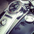 Harley Davidson Motorcycle Chrome by Gregory Dyer