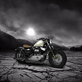 Harley Davidson Sportster Forty Eight 2013 Mountains by Aged Pixel