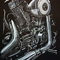 Harley Engine by Richard Le Page