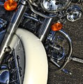 Harley Frontal In White by Corky Willis Atlanta Photography