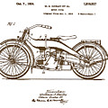 Harley Motorcycle Vintage Patent by Karla Beatty