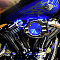 Harleys Twins by DigiArt Diaries by Vicky B Fuller