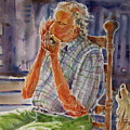 Harmonica Player And A Howler by Shirley Sykes Bracken