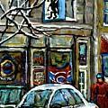 Achetez Les Meilleurs Scenes De Rue Montreal St Henri Cafe Original Montreal Street Scene Paintings by Carole Spandau