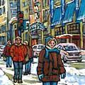 Achetez Les Meilleurs Scenes De Rue Montreal Best Original Art For Sale Montreal Streets Paintings by Carole Spandau