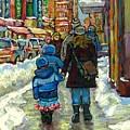 Exceptional Canadian Artist Winter Scene Paintings Downtown Montreal Achetez Scenes De Quebec  by Carole Spandau