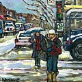 Best Canadian Winter Scene Paintings Original Montreal Art Achetez Scenes De Quebec Cspandau by Carole Spandau