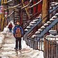 Canadian Art Winter Streets Original Paintings Verdun Montreal Quebec Scenes Achetez Les Meilleurs by Carole Spandau
