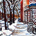 Canadian Winter Scene Paintings Original Art Verdun Montreal Achetez  Paysages De Quebec C Spandau by Carole Spandau