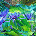 Harmony Of Purple And Green by John Lautermilch