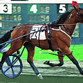 Harness Racer Racing By by Clarence Alford