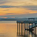 #harper Pier In The Morning Light by E Faithe Lester