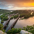 Harpers Ferry National Historical Park Maryland Heights Sunset by Mark VanDyke