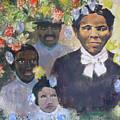 Harriet Tubman- Tears Of Joy Tears Of Sorrow by Art Nomad Sandra  Hansen