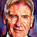 Harrison Ford Indiana Jones Portrait 2 by Yury Malkov
